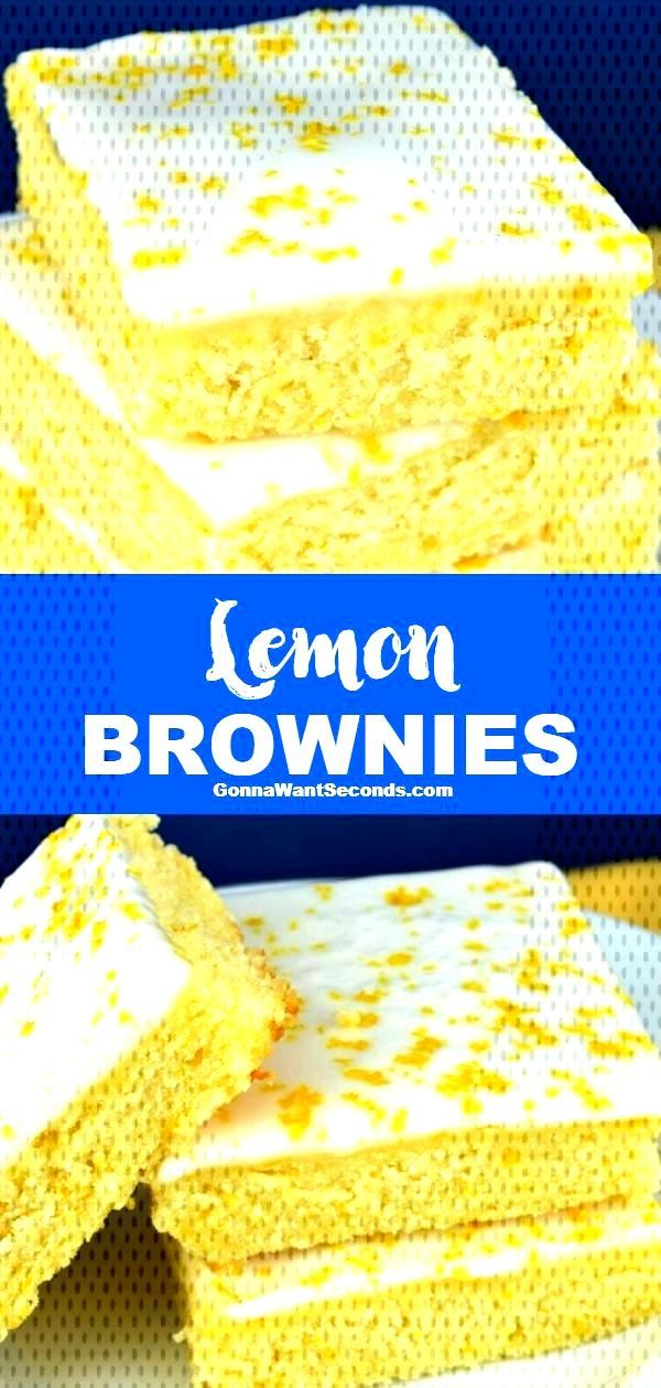 Lemon Brownies *NEW* Lemony deliciousness meets yummy brownies in this Lemon Brownies recipe. It'