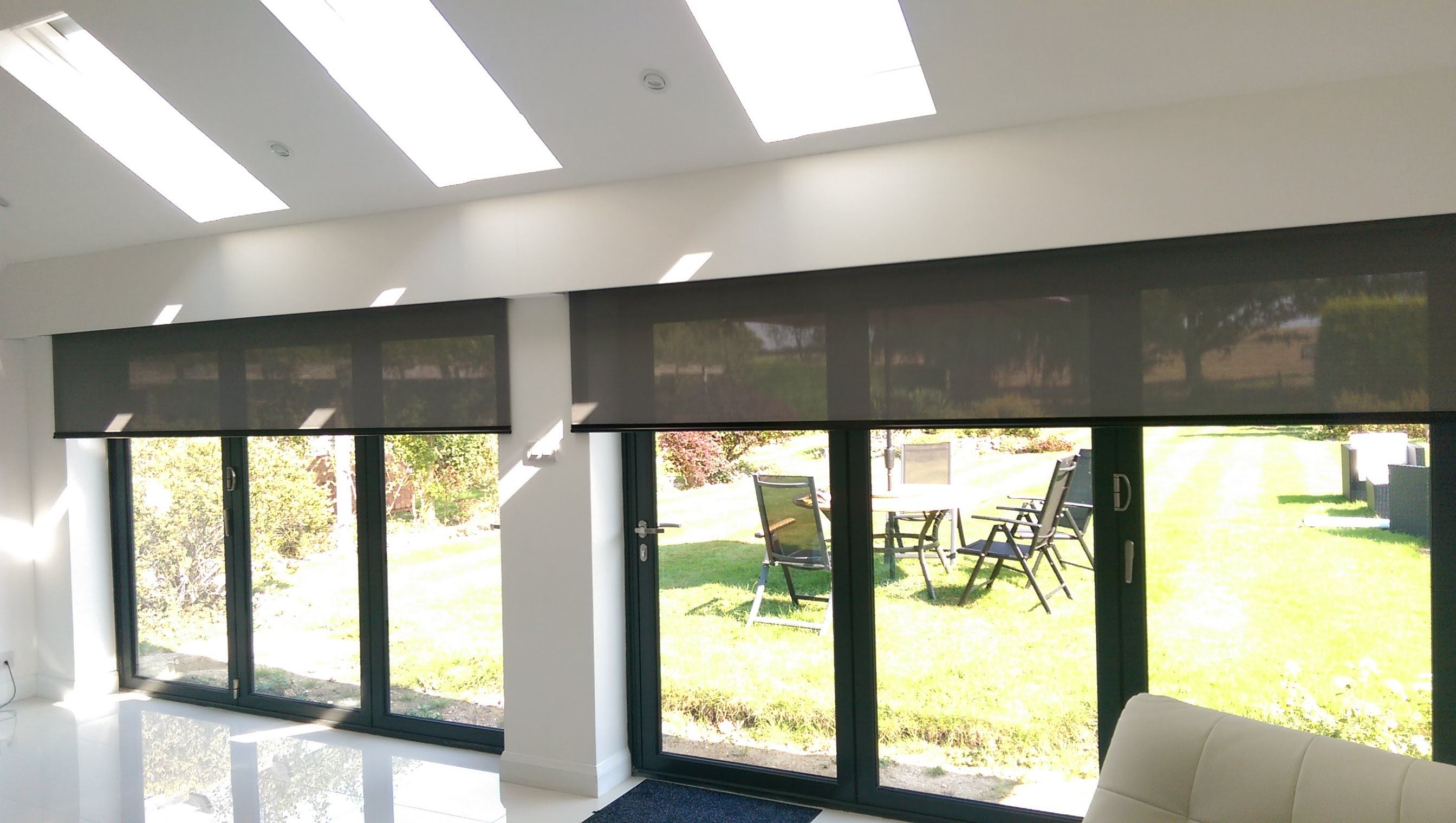 Electric roller blinds for byfold doors hidden behind a pelmet youtube