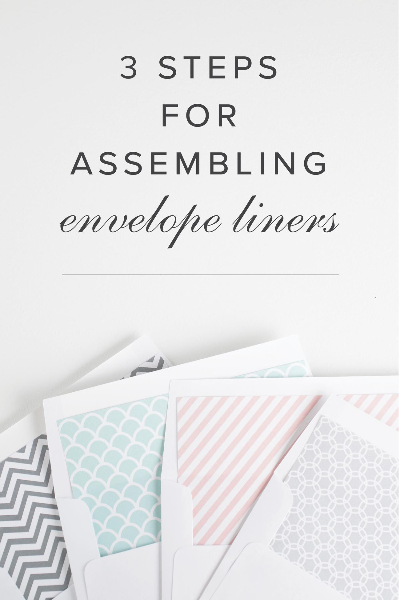 How To Assemble Your Envelope Liners Assembling Wedding Invitations Envelope Liners Shine Wedding Invitations