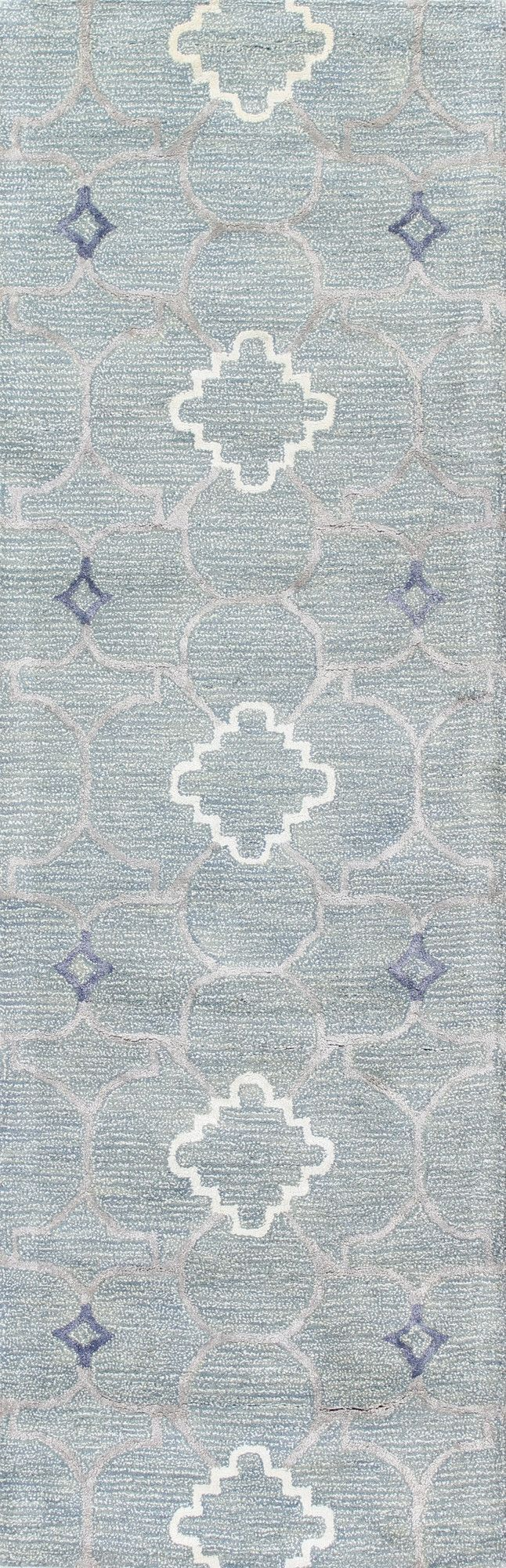 Norwalk Hand-Tufted Light Blue Area Rug