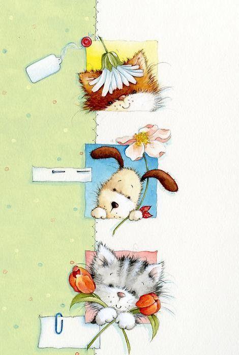 Beaux tableaux de maria woods illustrations dessin - Chouette rigolote ...
