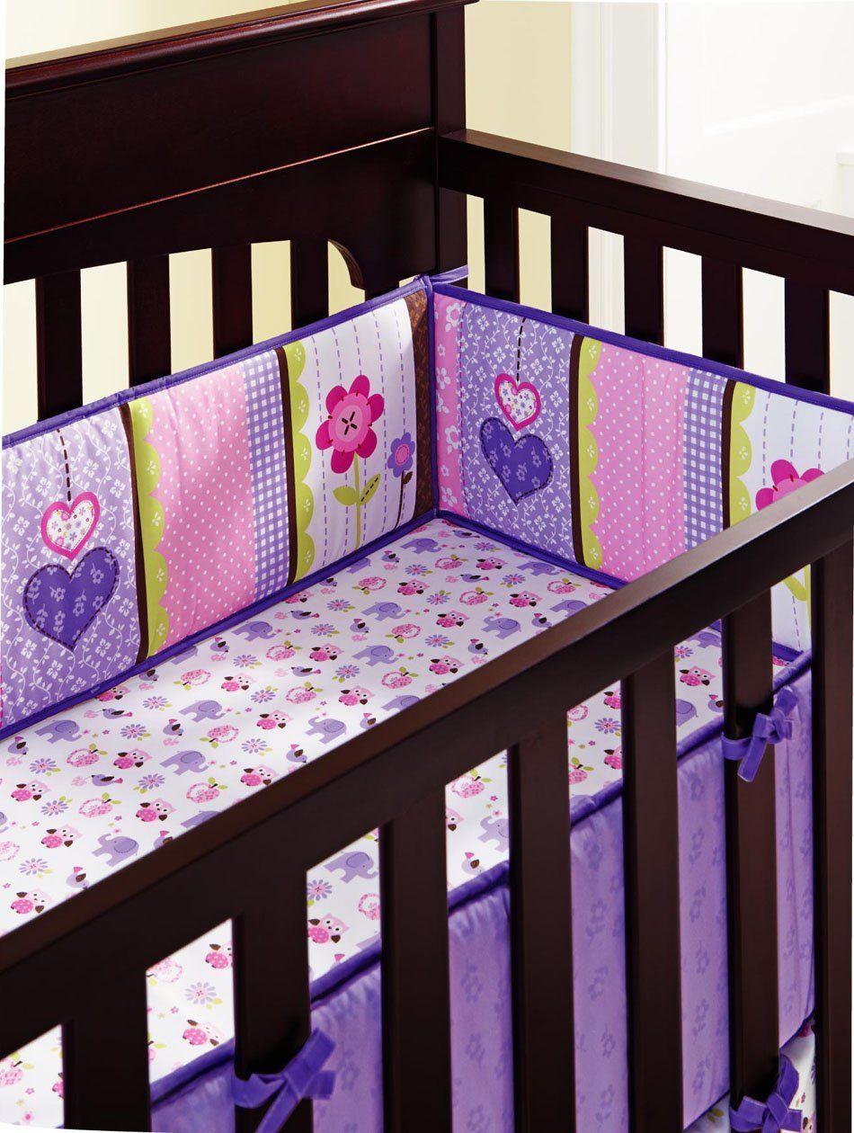 Baby S Purple Owl 9pcs Crib Bedding Set With Diaper