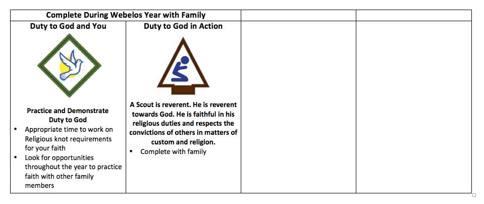 Cub Scout Love Webelos  Aol Lds Annual Planning Calendar