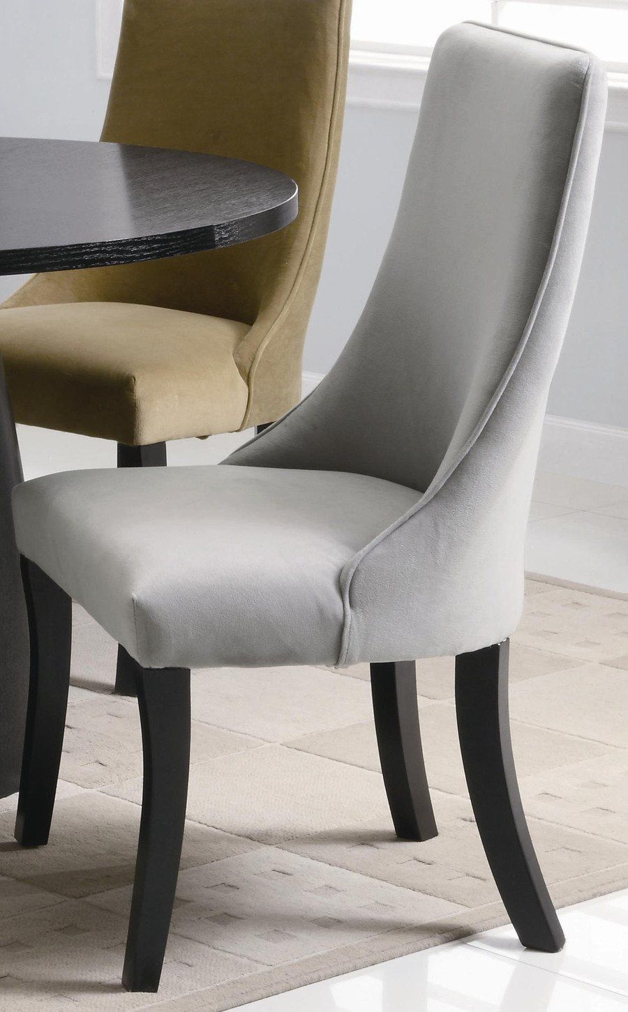 curved pseudoarm parson's chairs for dining room Dining