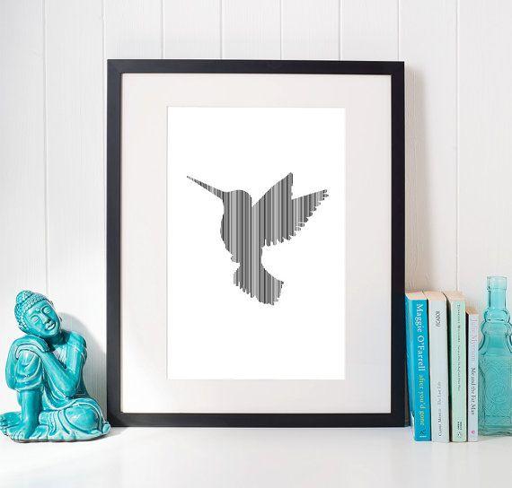 bird illustration poster print children wall art by OrangeKiteLabs