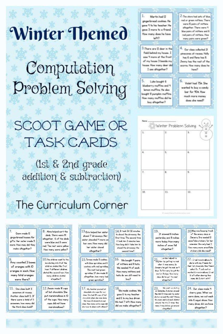 Winter Problem Solving (2nd Grade) | Math, Teacher and Curriculum