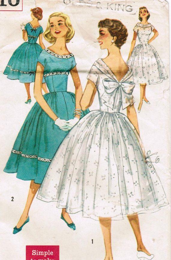 1950s Simplicity 1910 Vintage Sewing Pattern by midvalecottage ...