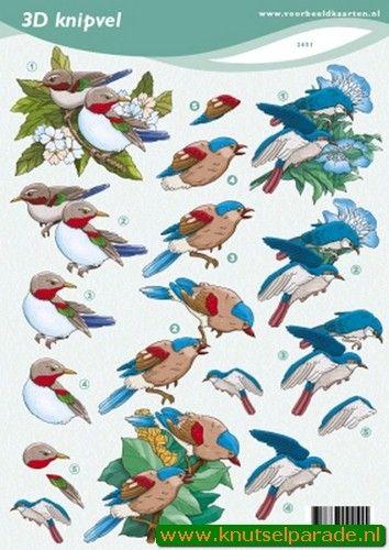 Nieuw bij Knutselparade: 2674 Voorbeeldkaarten knipvels vogels 2451 https://knutselparade.nl/nl/dieren/4616-2674-voorbeeldkaarten-knipvels-vogels-2451.html   Knipvellen, Dieren  -