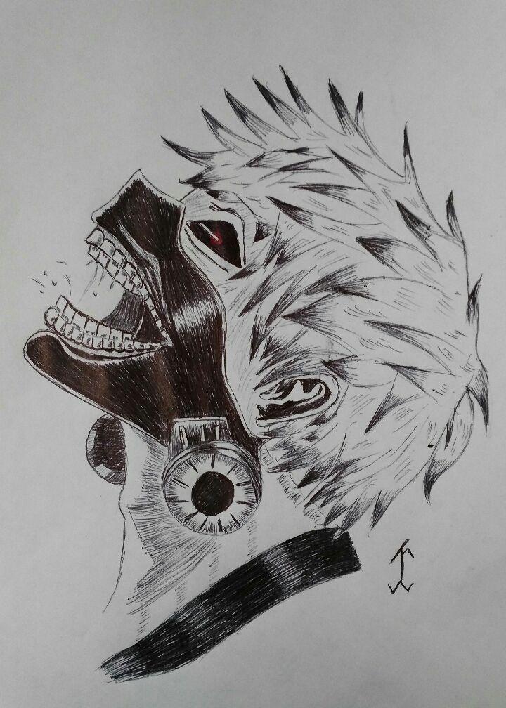 Animetokyoghoul Manga Drawing Draw Pen Art Anime Tokyoghoul