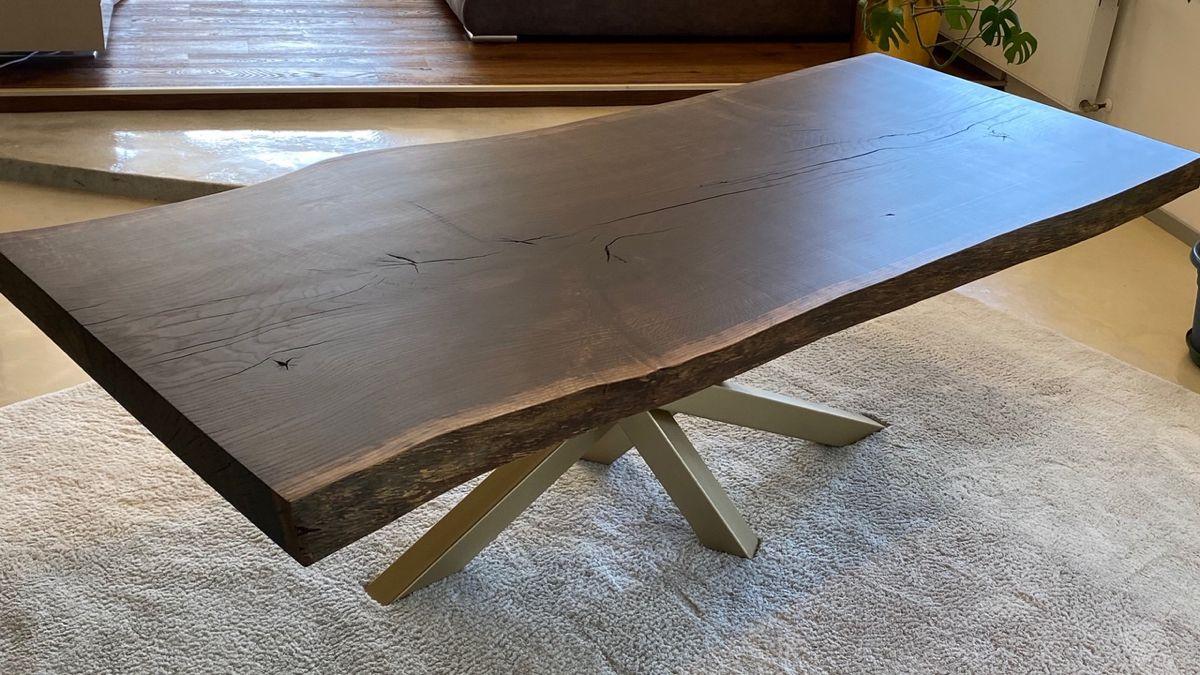 Echtholz Tisch Masiva Holztisch Esstisch morning Baumkante Baumtisch eich