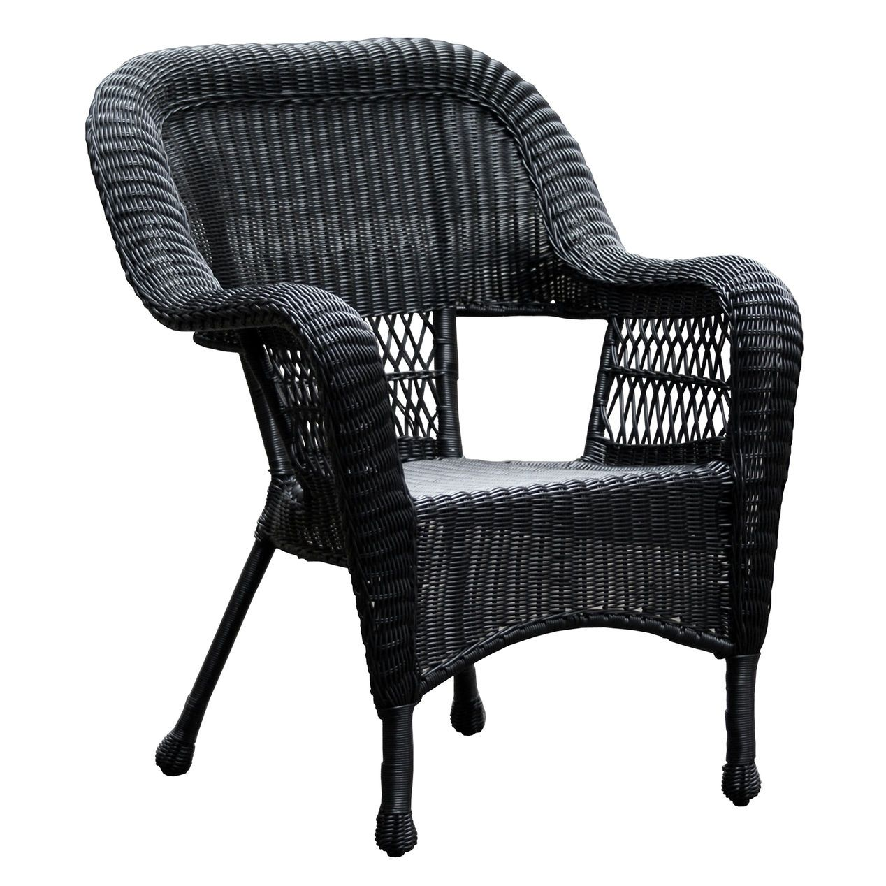 Black Wicker Outdoor Patio Chair At Home