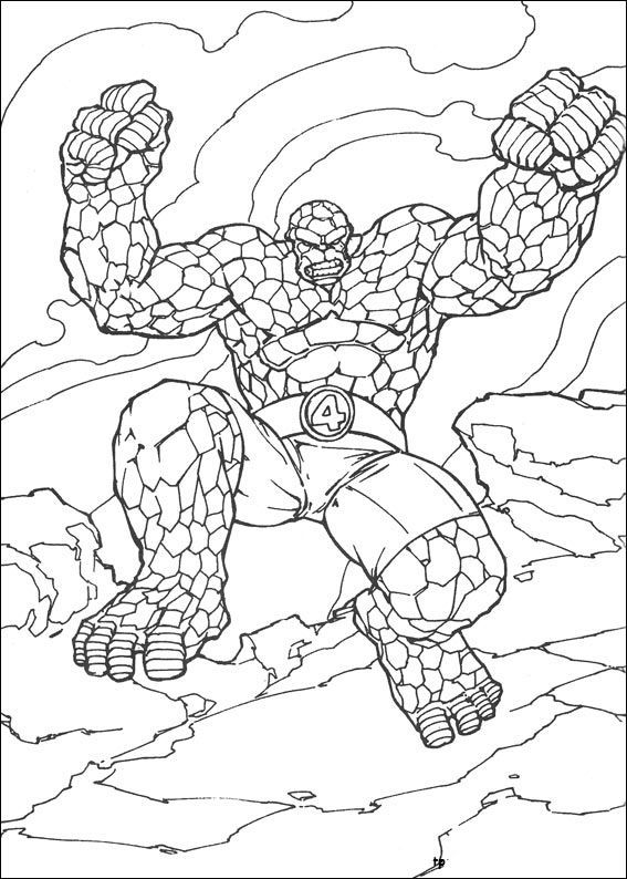 Fantastic Four Pictures To Color