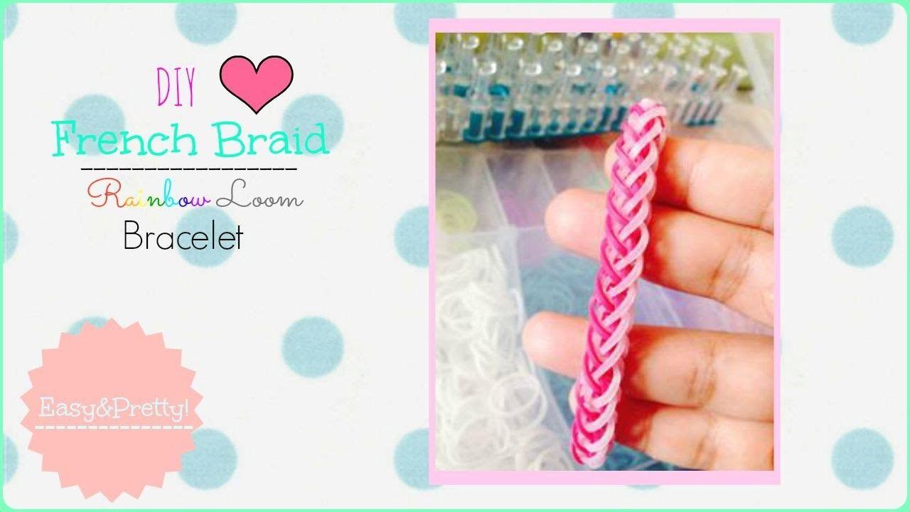DIY French Braid Rainbow Loom Bracelet ♥ | Jazmyn Johansen