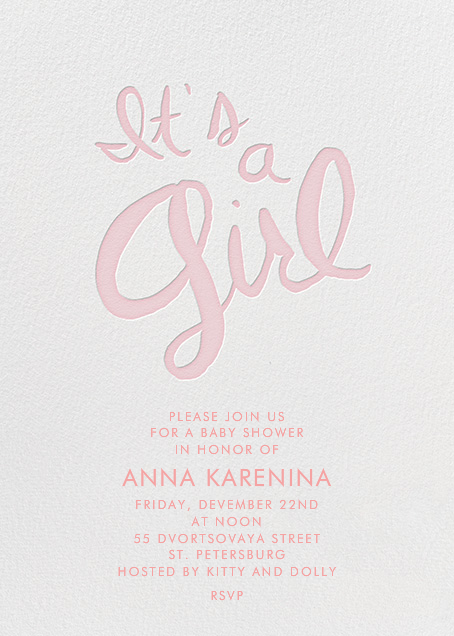 Brilliant Girl by Linda and Harriett for Paperless Post. Design custom baby shower invitations with easy-to-use design tools and RSVP tracking. View other baby shower invitations on paperlesspost.com