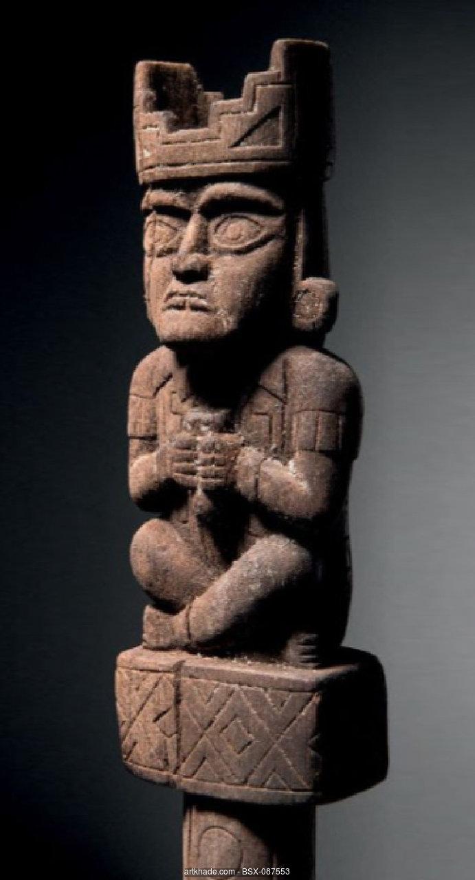 A Chimu Staff Finial Peru Peru Culture Inca Ancient Art