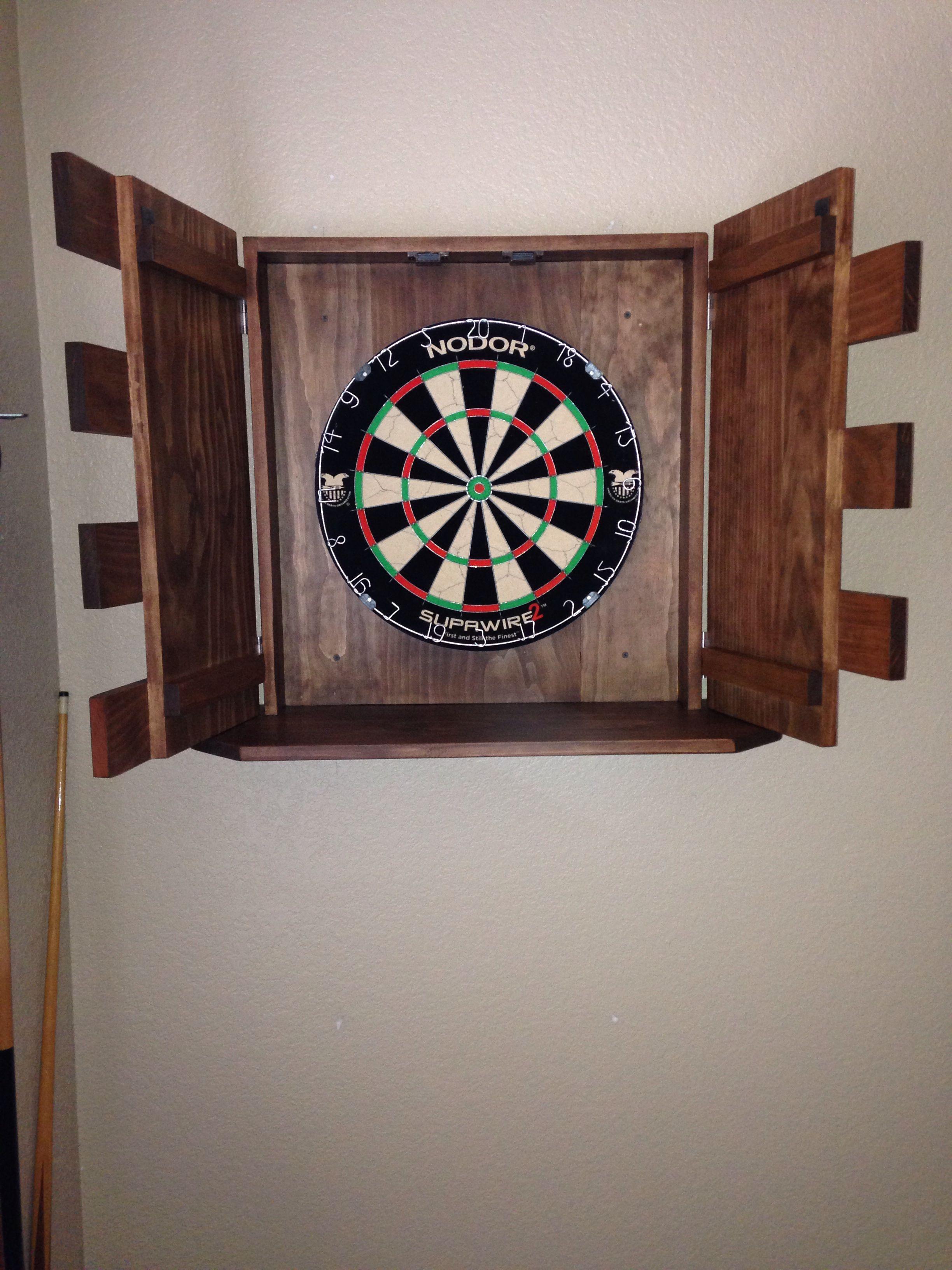 Finished Dart Board Cabinet Lee S Stuff Dart Board