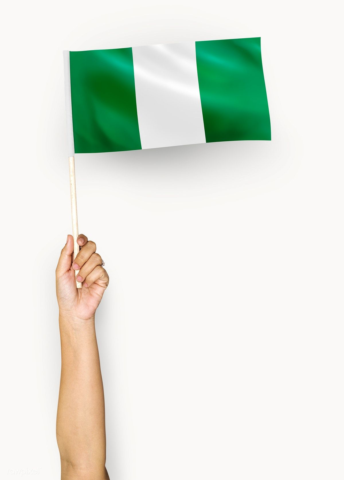 Download Premium Psd Of Person Waving The Flag Of Federal Republic Of