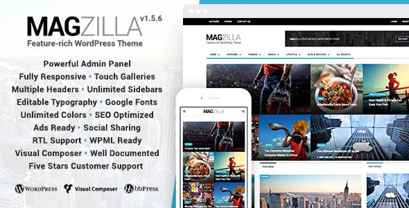Theme MagZilla 1.5.6 – For Newspapers, Magazines and Blogs ...