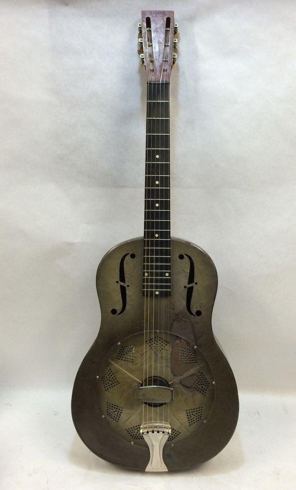 details about 1931 national duolian metal body vintage resonator blues guitar antique musical. Black Bedroom Furniture Sets. Home Design Ideas