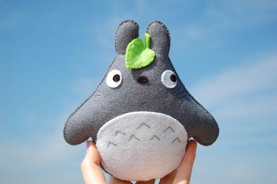 Totoro felt stuffed toy plush plushie cute fans by ...