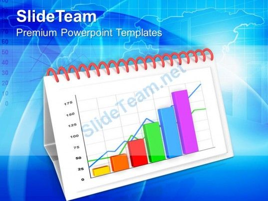 1013 monthly progress report by bar graph powerpoint templates ppt