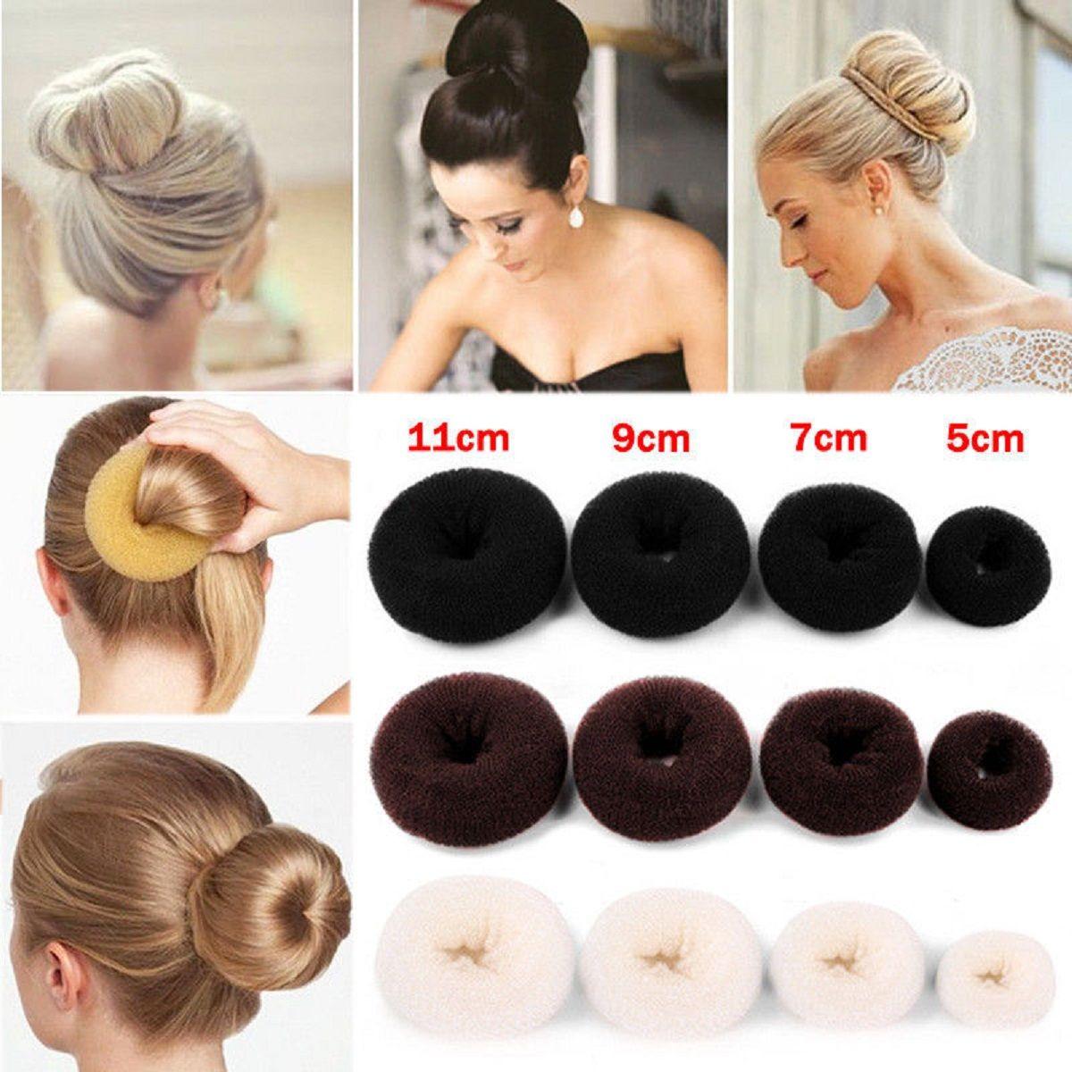 Foam Sponge Hair Accessories Donuts Style Hair Ring Bun Shape Hair Styler Ad Accessories Ad Donuts Hair Hair Bun Maker Hair Donut Hair Styler