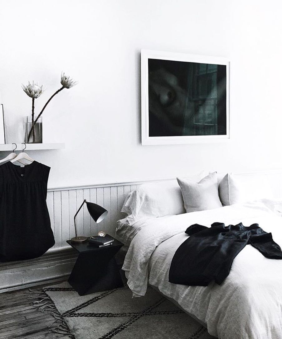 White and grey bedroom u003e Interior Pinterest