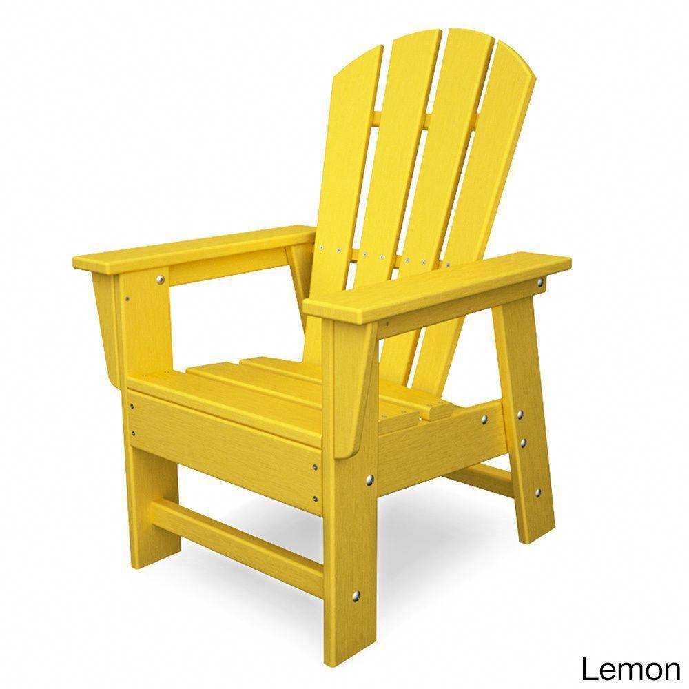 polywood kids casual chair lemon yellow plastic rh pinterest com