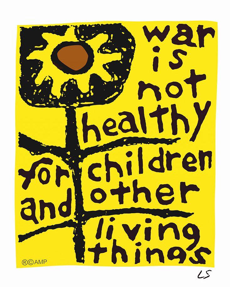 Peace, not war.