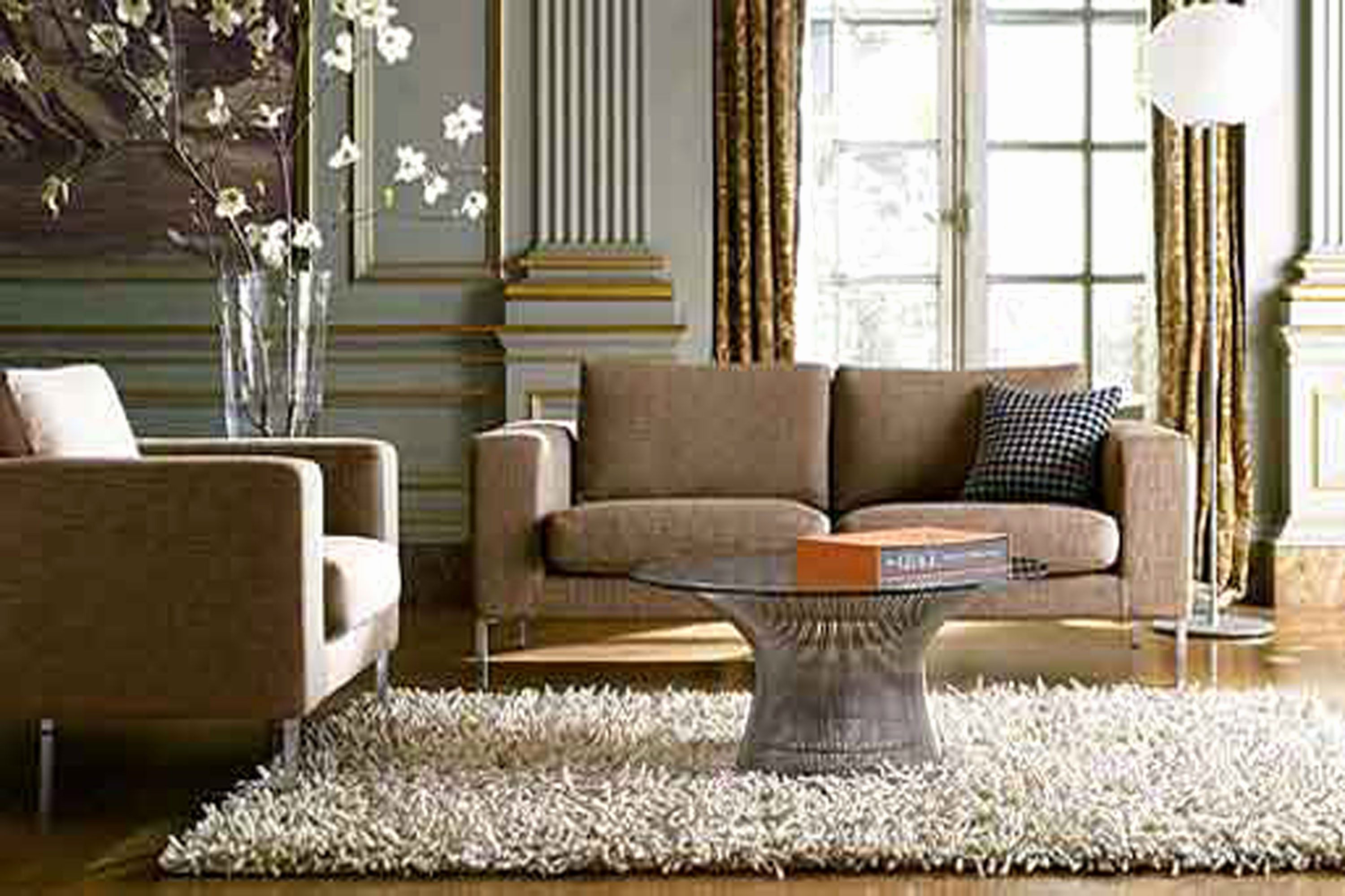 Luxury Brown sofa In Living Room Pics