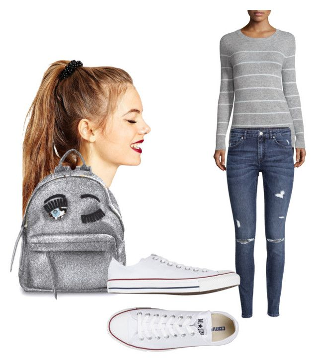 """""""Untitled #45"""" by djjazminmontiel on Polyvore featuring Autumn Cashmere, ASOS, H&M, Chiara Ferragni and Converse"""