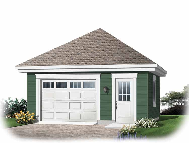 Single car garage plans oversized one car garage new for Large garage plans