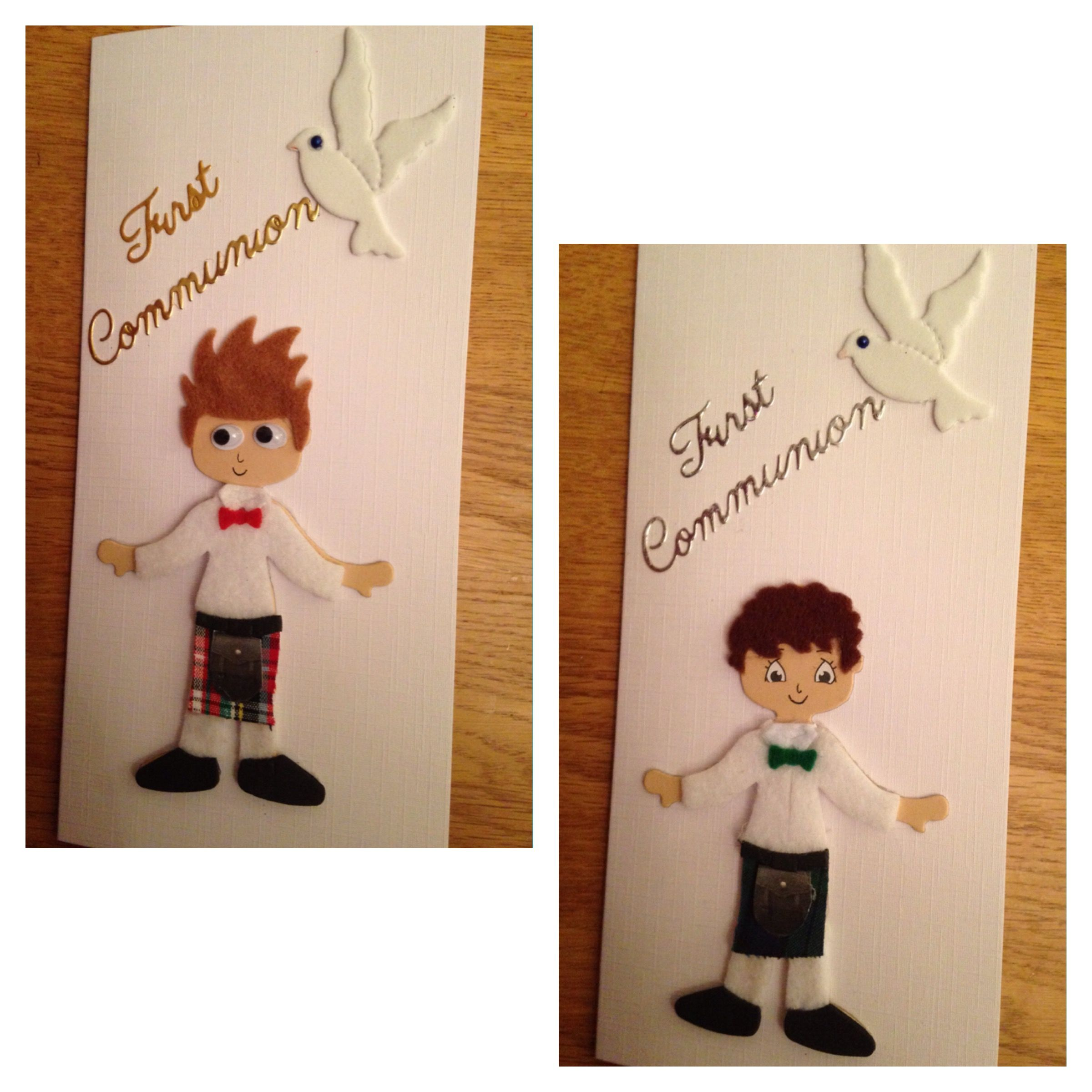 Handmade communion cards www. babyunika123.co.uk