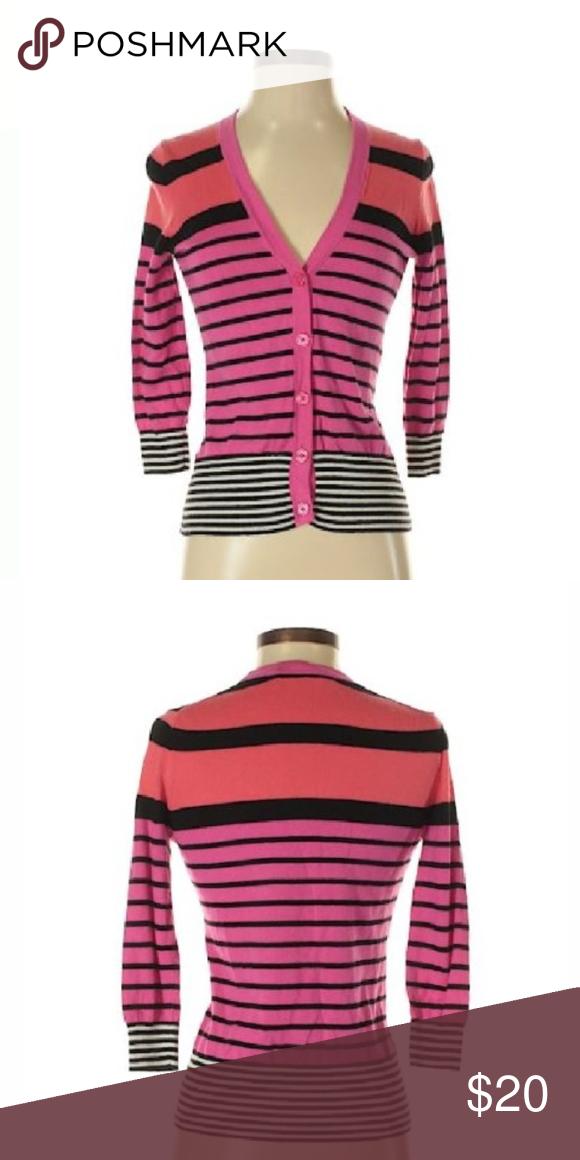 ad992c55c1bf NWT Ann Taylor Loft Stripe Cardigan Sweater XL C Brand New With Tag! Ann  Taylor