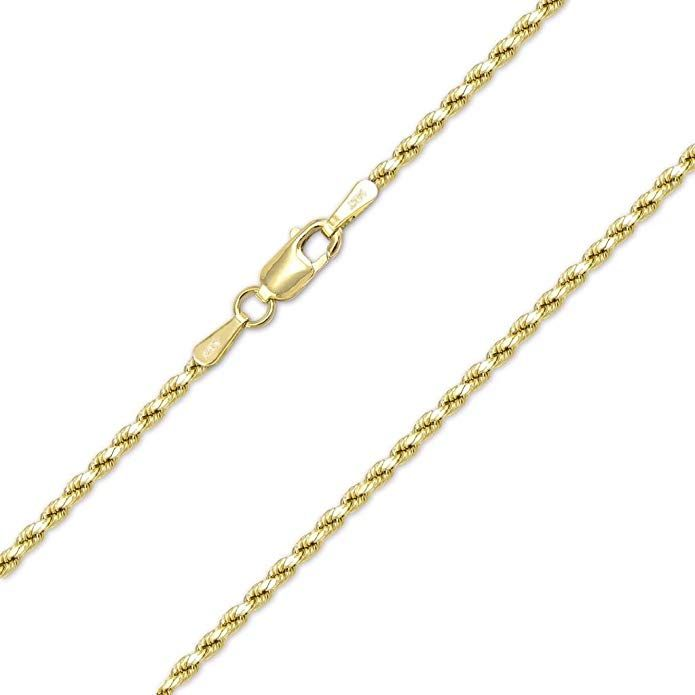 14k Yellow Gold 1mm Rope Chain Necklace Lobster Clasp Review Fine Gold Necklace Chains Necklace Necklace For Girlfriend