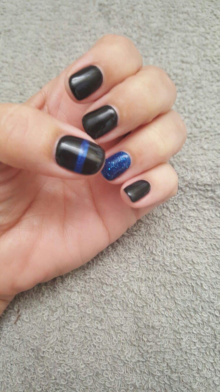 Thin Blue Line Nails : nails, Nails, Lines, Nails,, Designs,