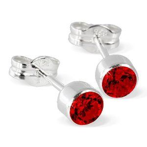 SilberDream earring Zirconia red, 925 Sterling Silver SDO503R SilberDream Charms. $10.45. Save 40%!