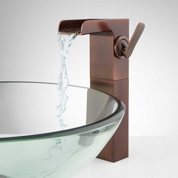 Jaxson Single Hole Waterfall Vessel Faucet with Pop-Up Drain