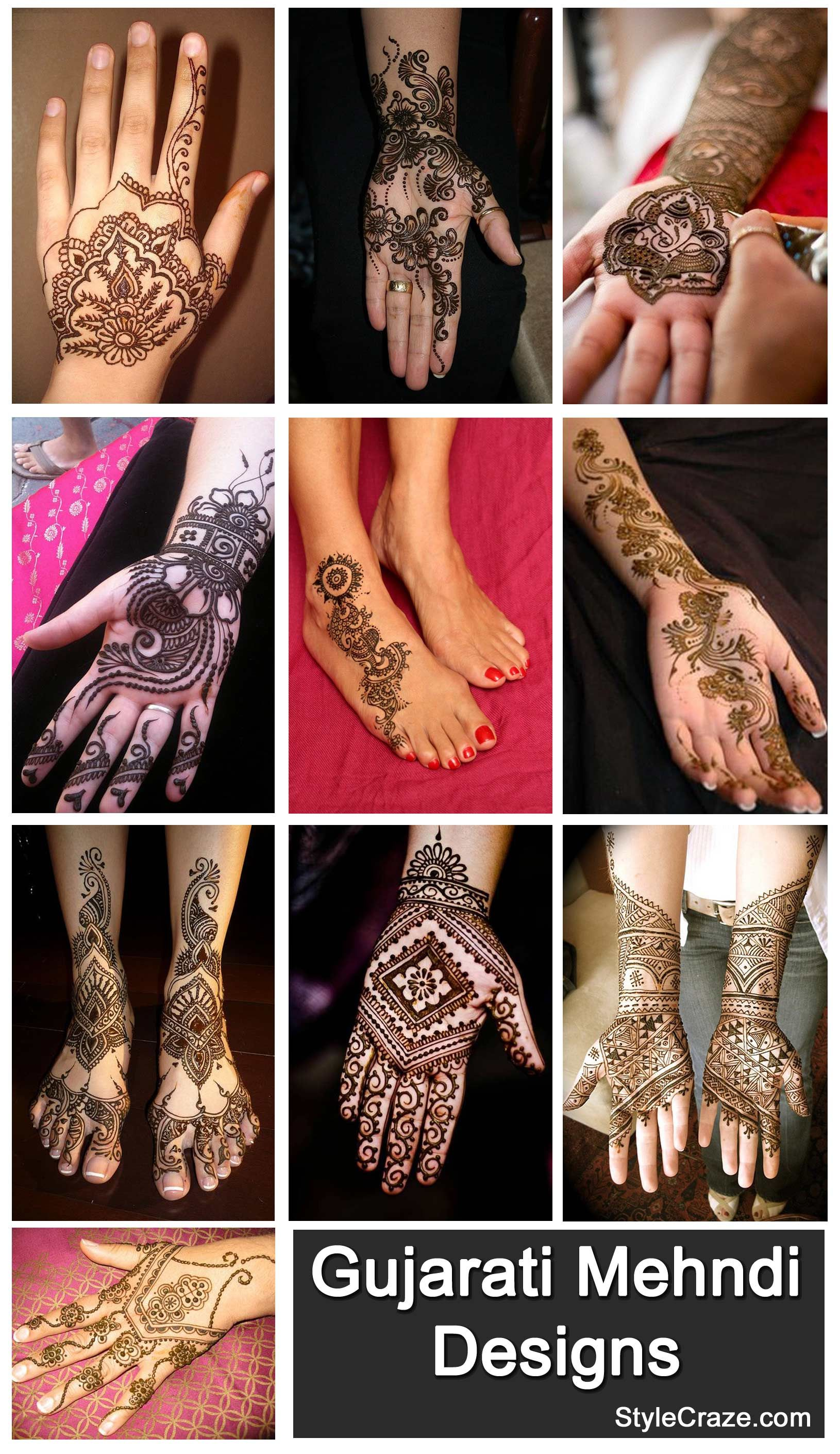 Top 10 beautiful arabic mehndi design art - Best Gujarati Mehndi Designs Our Top 10