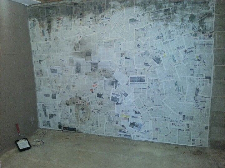 Basement. Cinder Block Walls