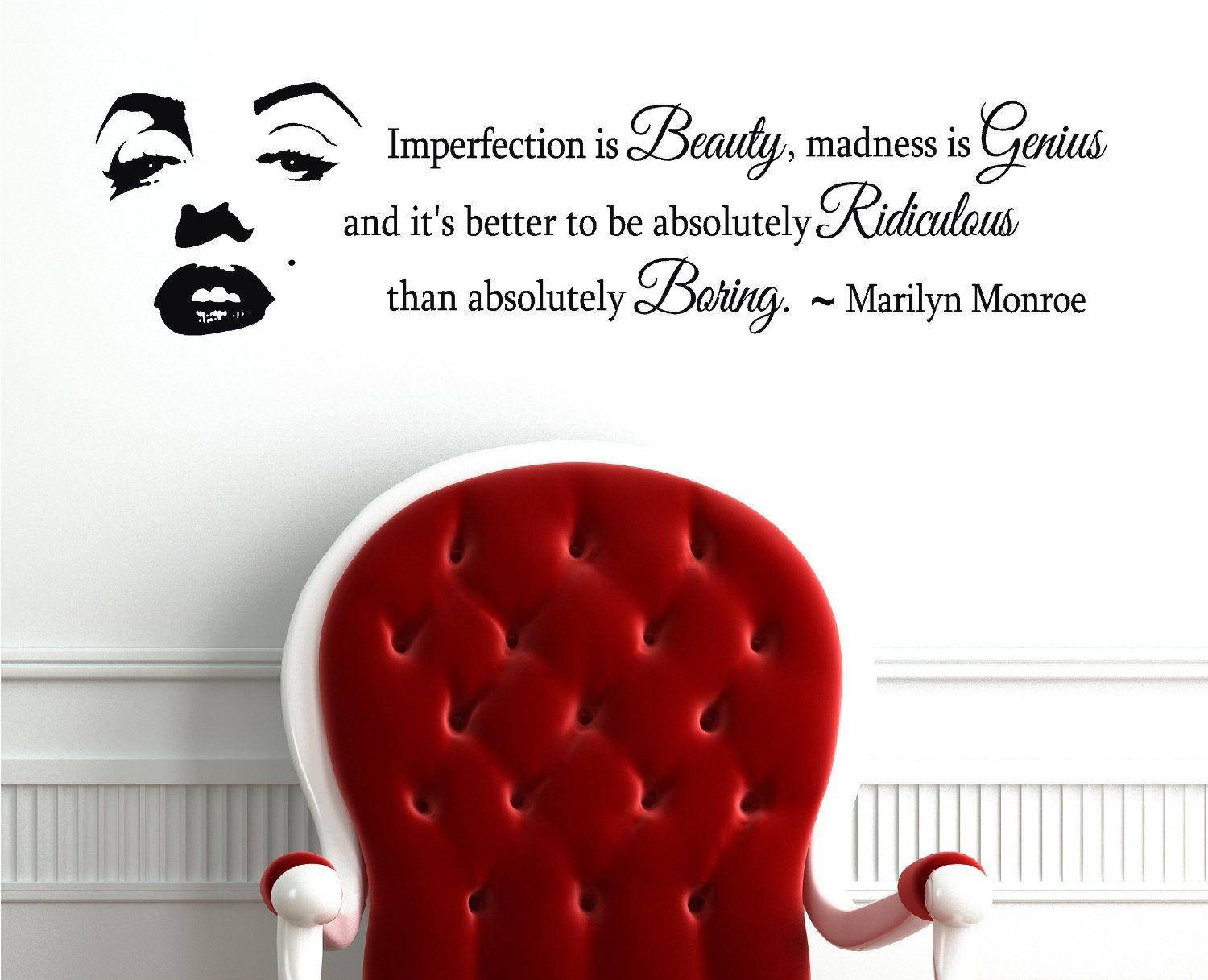 Marilyn monroe quote imperfection is beauty