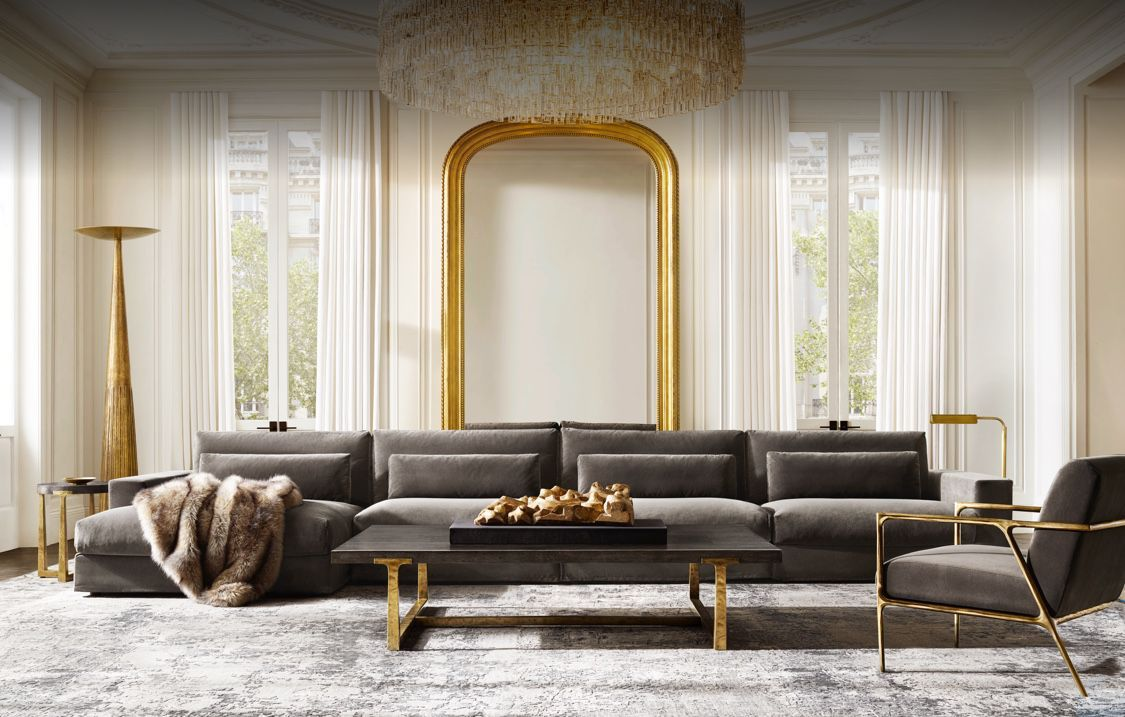 Rh St Louis Contemporary Interior Design Living Room Rh Inspired Living Room Restoration Hardware