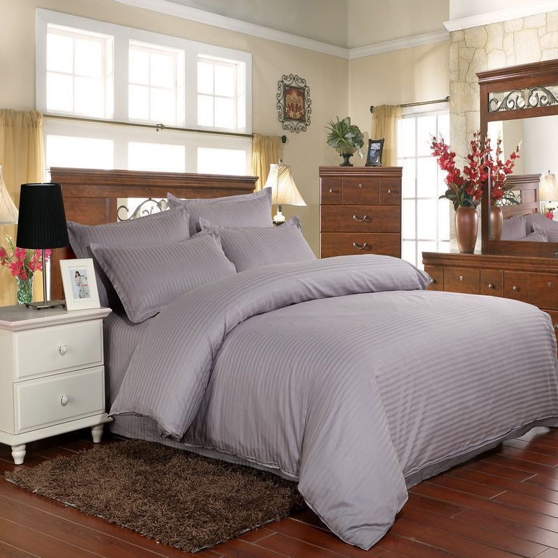 4pcs Hotel and family 100% cotton bedding set solid duvet cover bed linen sheet quilt sets bedding-set pillowcase no comforter