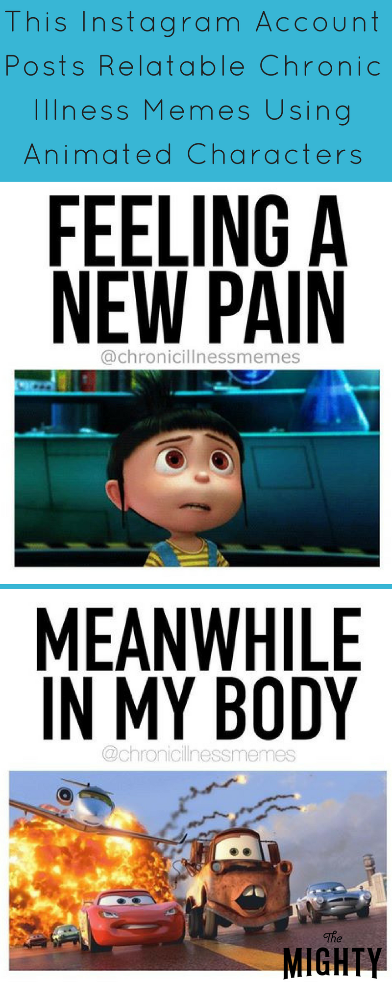 9f0a9b6fe01f0866792398aafc0316c7 this instagram uses your favorite animated characters to describe,Chronic Illness Meme Unhelpful Advice