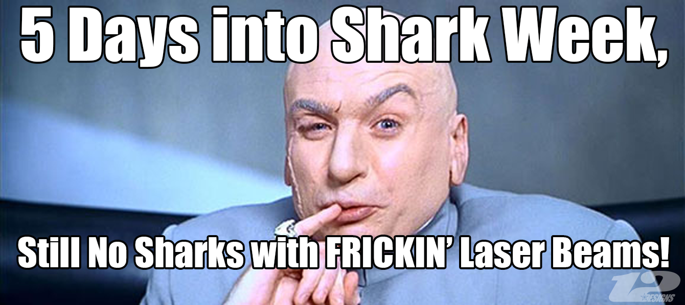 Sharkweek Discoverychannel Austinpowers Shark Laser Laserbeams