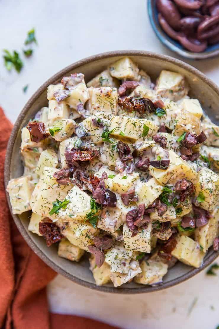 Greek potato salad a healthier potato salad recipe with