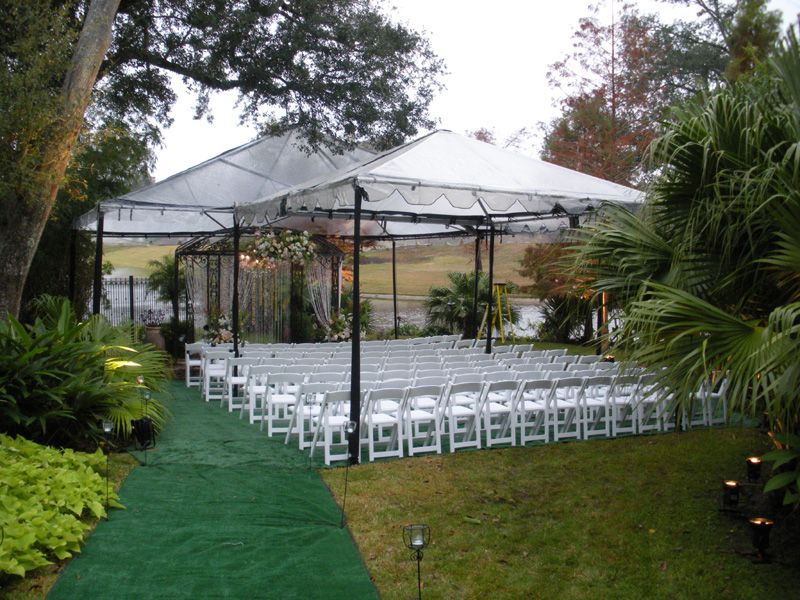 Clear tents with black pole covers whitewood folding