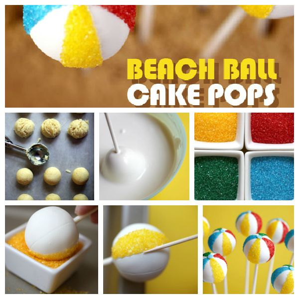 Beach Ball Cake PopsIncludes supplies list and instructions on how