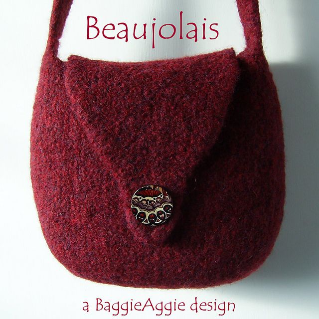 No Sew Felted Shoulder Bag Pattern Beaujolais Pattern By