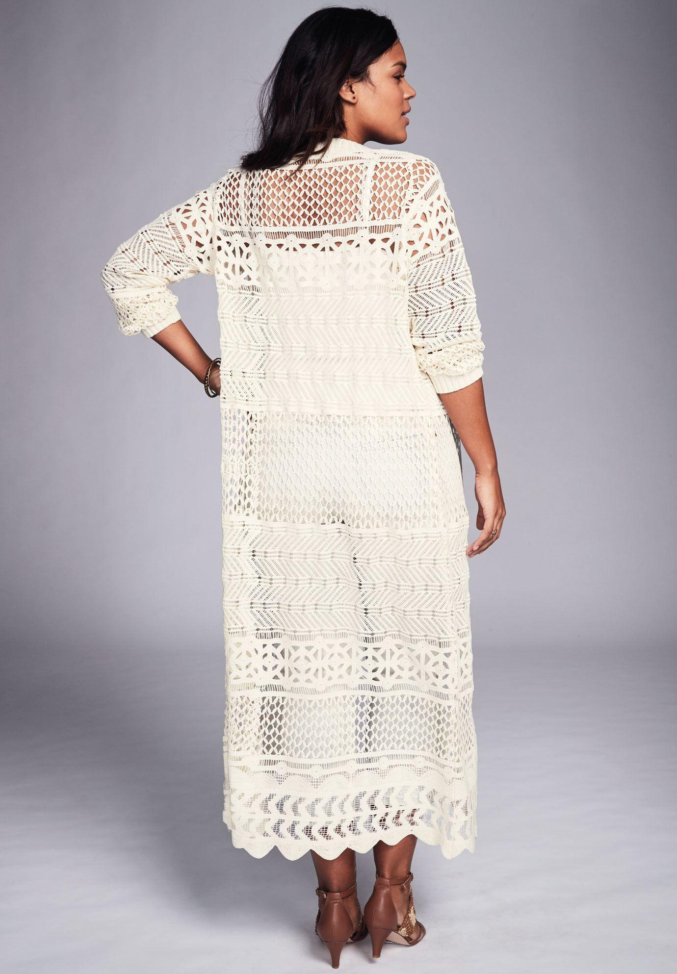 Long lace cardigan - Plus Size Long Lace Cardigan 69 99